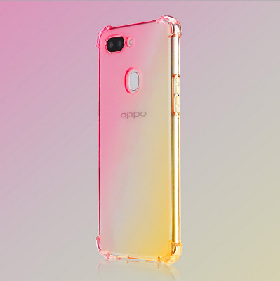 AU6.64 • Buy For Lot OPPO Shockproof Case Transparent Silicone Gradient Airbag TPU Cover