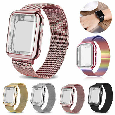 AU3.99 • Buy For Apple Watch 5 4 3 2 Milanese Metal Band Strap+Full Case Cover IWatch 40/44MM