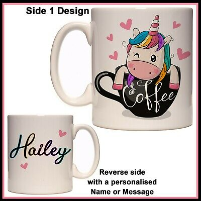 AU17.50 • Buy Personalised Unicorn In Coffee Mug - Cute, Funny, Name Gift Idea - Cup, Birthday