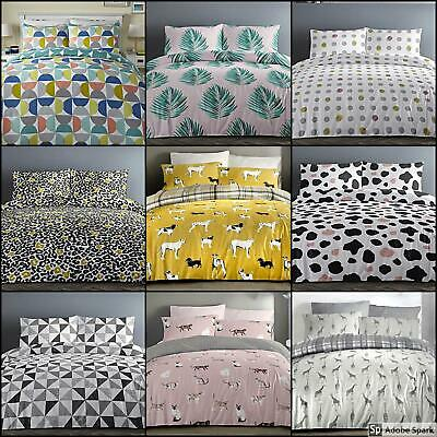 New DUVET Quilt COVER With Pillow Cases THEMED Bedding Set DOUBLE SINGLE KING • 18.99£