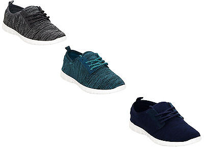 New Ladies Womens Plimsolls Pumps Comfort Running Gym Sports Trainers Shoes Size • 8.99£