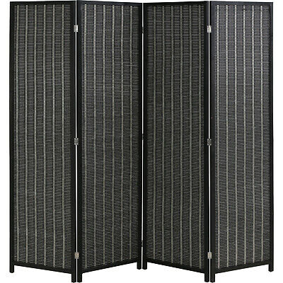 $89.99 • Buy Bamboo Room Divider Folding Privacy Screen 4 Panel 72  High 17.7  Wide