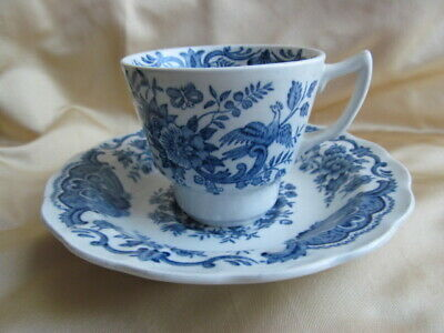 Ridgway Victorian WINDSOR Rare Blue Cup & Saucer Vintage Staffordshire Pottery • 30£
