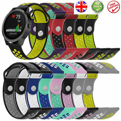 £3.99 • Buy Universal 20MM Quick Release Sports Soft Silicone Watch Band Replacement Strap