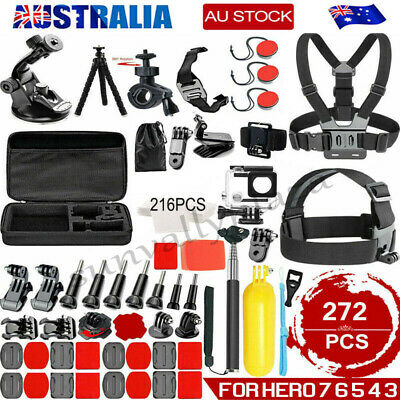 AU16.89 • Buy Accessories Pack Kit Head Chest Monopod Bike Surf Mount For GoPro Hero 8 7 6 5 4