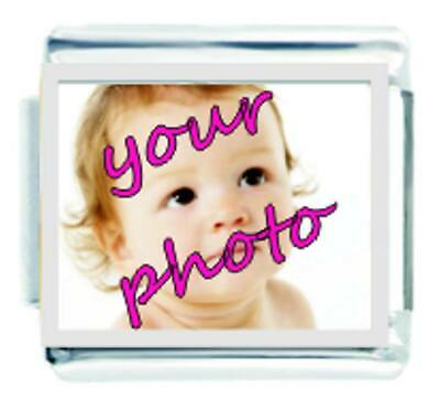 £6.90 • Buy Daisy Charm - Personalised YOUR PHOTO - Compatible With Italian Charm Bracelets