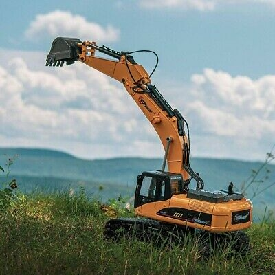 Excavator Toy Remote Control RC Truck Kids Tractor Digger Vehicle Metal Shovel • 111.36£