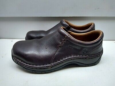 £94.05 • Buy Red Wing Brown Leather Oil Resistant Slip On Clog Steel Toe Women Shoes 7M 37,5