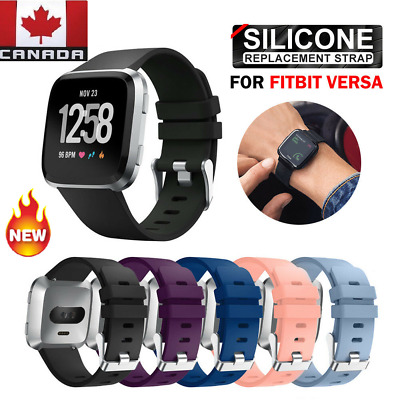 $ CDN7.99 • Buy NEW Sport Wrist Watch Sport Band For Fitbit Versa Silicone Wristbands 1 & 2 Lite