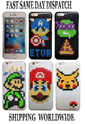Lego Building Block Case Cover For Apple IPhone 6/6S 4.7'' Smartphone • 4£