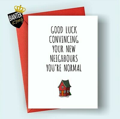 C18 New Home House Good Luck Moving Card Funny Rude Cheeky Joke Congratulations • 3.25£