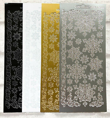 £1.69 • Buy Christmas Snowflakes Borders Assorted Colours Card Craft Peel Off Stickers