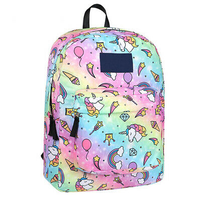 AU25.71 • Buy Middle School Student Unicorn Backpack Shoulder Bag Large Capacity @yf LrJNE