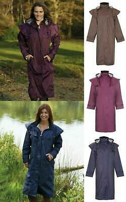 £28.95 • Buy Ladies Long Full Length Waterproof Riding Rain Jacket Country Coat With Cape