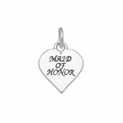 $21 • Buy Genuine Sterling Silver Oxidized Maid Of Honor Charm