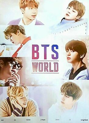 $9.45 • Buy [BTS] WORLD OST OFFICIAL POSTER (Unfolded Ver.) / LIMITED EDITION / K-Pop