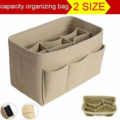 AU14.39 • Buy Women Organizer Handbag Felt Travel Bag Insert Liner Purse Organiser Pouch