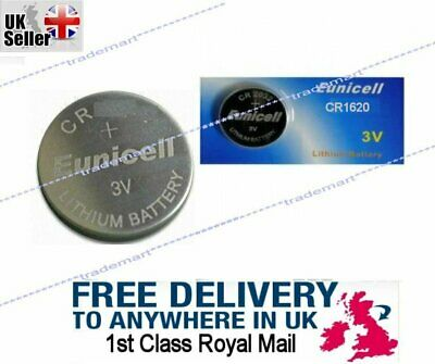 £0.99 • Buy 3V CR1620 BR DL ECR Lithium Button Cell Battery, Eunicell Car Key Fob Remote UK