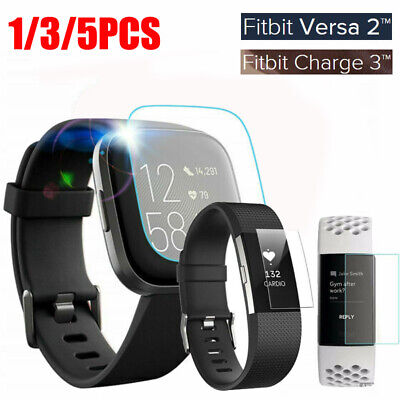 AU3.19 • Buy 1/3Pcs For Fitbit Versa 2/Lite Charge 2 3 Tempered Glass Screen Protector Cover