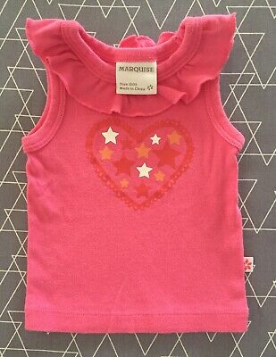 AU6.99 • Buy Marquise 000 Baby Girls Singlet Top 0-3 Months