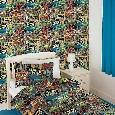 £4.99 • Buy 💥DOCTOR DR WHO COMIC WALLPAPER FEATURE WALL DECOR BBC Daleks, Cybermen, Zygons