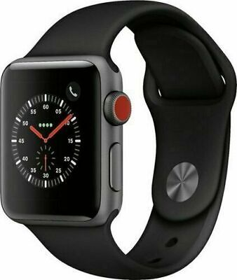 $ CDN262.88 • Buy Apple Watch Series 3 38mm GPS + Cellular 4G LTE - Space Gray - Black Sport Band