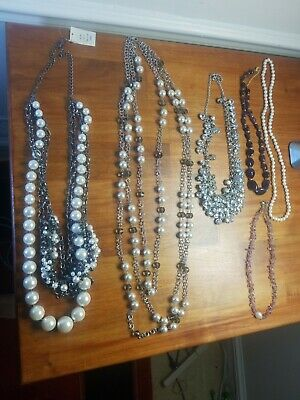 $ CDN79.08 • Buy VINTAGE LOT OF 6 PIECES CUSTOM Jewelry Necklaces! New And Preowned!