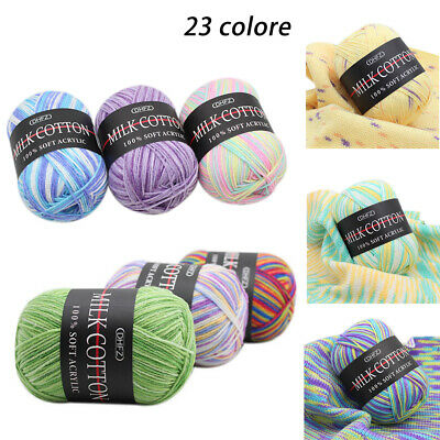 AU4.78 • Buy Mixed Lot 23 Color 50g Knitting Yarn Crochet Milk Soft Baby Cotton Wool Hot  AU