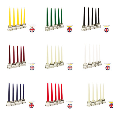 £4.95 • Buy Tapered Dinner Candles NON-DRIP Candels Home Party Church Bistro UK SELLER