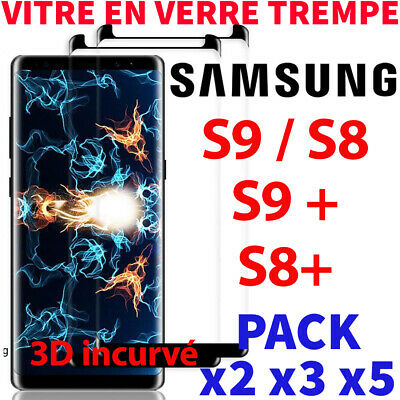 $ CDN4.60 • Buy Protection Ecran Samsung Galaxy S9 S8 S9+ S8 Plus Film Vitre Verre Trempé Screen