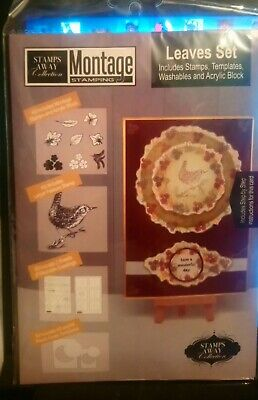 £4.50 • Buy Stamps Away Collection, Leaves Set, Montage Stamping, Card Making/scrapbooking