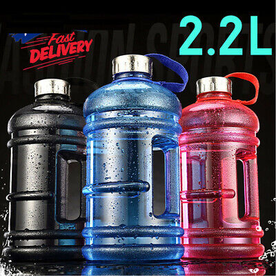 AU21.48 • Buy 2.2L Large Capacity Water Bottle PETG Handgrip Kettle For Gym Outdoor Fitness