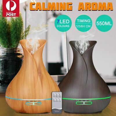 AU12.71 • Buy Aroma Aromatherapy Diffuser LED Essential Oil Ultrasonic Air Humidifier Purifier