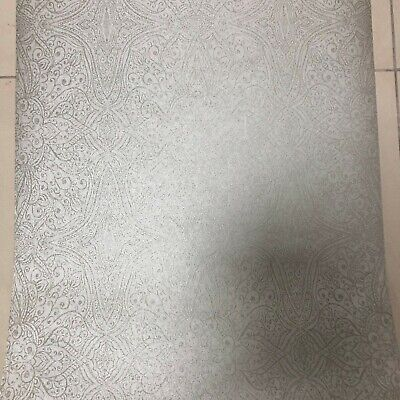 Silver Grey Glitter Damask Wallpaper -By Escala 18079 PASTE THE WALL • 8.99£