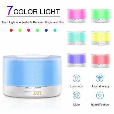 AU27.98 • Buy Aroma Aromatherapy Diffuser LED Essential Oil Ultrasonic Air Humidifier Purifier