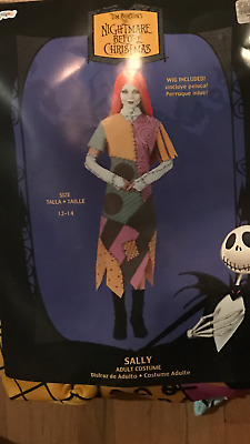$34.95 • Buy Disney Nightmare Before Christmas Sally 12-14  Adult  Costume Licensed  With Wig