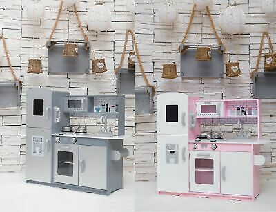 GALACTICA Wooden Pretend Play Kitchen With Utensil Toy Kids Cooking Role Play Se • 76.90£