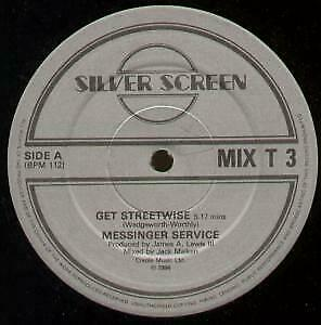 MESSINGER SERVICE Get Streetwise 12 INCH VINYL UK Silver Screen 1984 2 Track B/W • 2.26£