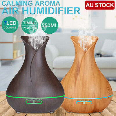 AU29.25 • Buy 550ml Air Humidifier Purifier Essential Oil Diffuser Aroma Aromatherapy Lamp LED