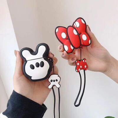 $ CDN10.08 • Buy For Airpods Case Cute Disney Minnie Mickey Mouse Shockproof Case Cover & Strap