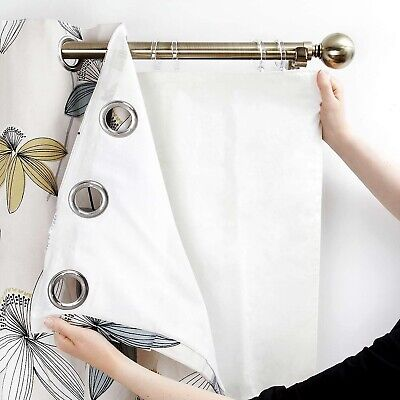 Ready Made Thermal Blackout Curtains Lining For EYELET RING TOP CURTAIN Free P&P • 29.99£