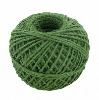 100m Green Jute String Ball Rustic Classic Decorative Old Shabby Chic Decoration • 0.99£