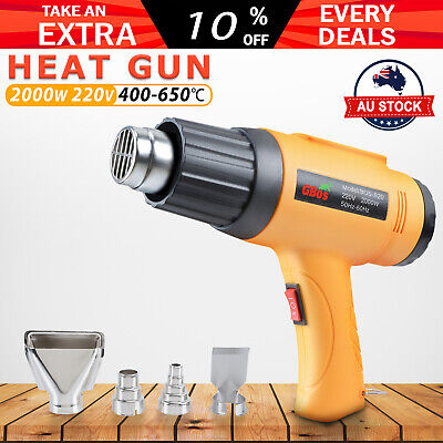 AU25.59 • Buy 220V 2000W Electric Heat Gun Degree Temperature Hot Air Heating Tool