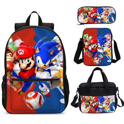 Mario Sonic Game Party School Backpacks Lunch Box Shoulder Bag Pencil Case Lot • 18.99£