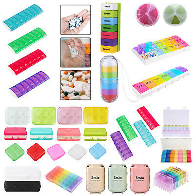 AU7.59 • Buy 7 Days Pill Box Bottle Boxes Container Storage Medicine Tablet Weekly Organiser
