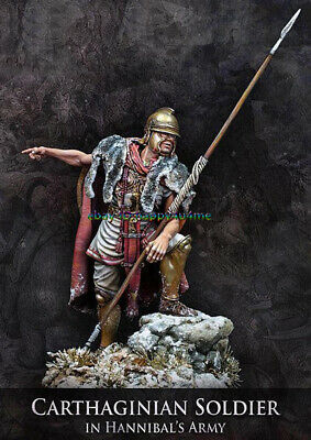 Resin 1/24 75mm Carthaginian Soldier Figure Model Unpainted Garage Kits Statue • 22.99£