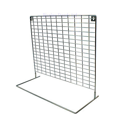 £37 • Buy Counter Or Wall Mesh Panel Stand For Keyrings/Carded Items In Chrome (K11W)