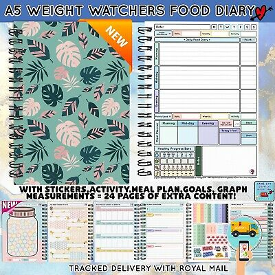 Diet Diary Food Diary Colourful Weight Watchers Friendly 2021 Xmas Gift Group • 6.95£
