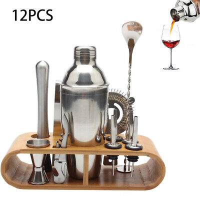 Stainless Steel Professional Cocktail Bartending Kit Drink Mixer Set,12pcs • 25.06$