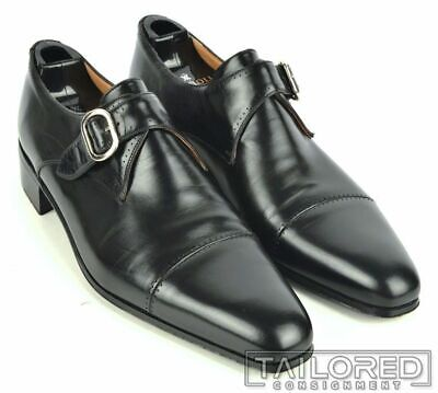 $ CDN418.35 • Buy ARTIOLI $1500 Black Leather Captoe Monkstrap Loafer Dress Shoes - UK 8 / US 9